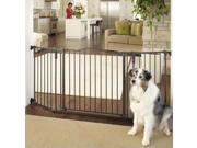 North States Deluxe Décor Wall Mounted Matte Bronze Pet Safety Fence Barrier Gate