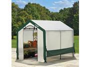 6x8x6'6″ /1,8×2,4×2 m Peak Style Organic Growers Greenhouse w/Screened Window