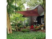 Shelter Logic Outdoor Party Patio Lawn Garden Sun Shade 16 ft. / 4,9 m Square Shade Sail Evergreen 230 gsm