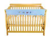 Trend Cribwrap Wide Rail Cover - Long Blue Fleece Dr. Seuss One Fish Two Fish