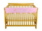 Cribwrap Wide Rail Cover - Long Pink Fleece Dr. Seuss Oh The Places You'Ll Go