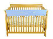 Cribwrap Wide Rail Cover - Long Blue Dr. Seuss Blue Oh The Places You'Ll Go
