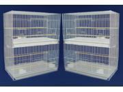 YML Group Home Indoor Pet Decorative Lot of 4 Medium Breeding Cages, White 9SIA62V27E9878