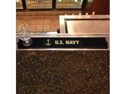 """Fanmats Sports Team Logo Navy Drink Mat 3.25""""x24"""""""