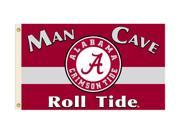 BSI PRODUCTS 35002 Man Cave 3 Ft. X 5 Ft. Flag with 4 Grommets - Alabama Crimson Tide 9SIA00Y1UR0389