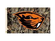 BSI Oregon State Beavers Team Logo 3Ft. X 5 Ft. Banner Flag W/Grommets - Realtree Camo Background