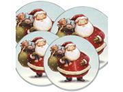 "Range Kleen Kitchen Electric Stove Cooktop Round Burner Kovers ""Fat Santa"" Hallmark"