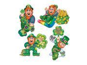 "Beistle Leprechaun Cutouts 14""""- Pack of 24"" 9SIA00Z2668364"