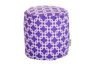 Majestic Home Goods Decorative Purple Links Pouf Small