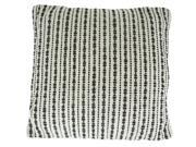 Hand Woven Splash Black Pillow 22 Inches X22 Inches