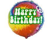 """Tie Dye Fun 18"""" Foil Balloon"""