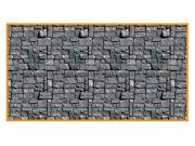 30 Foot Stone Wall Plastic Backdrop