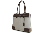 """Mobile Edge 15.4"""" PC and 15"""" Mac Madison Two-Tone Canvas Tote"""