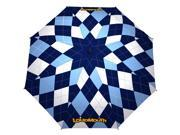 Haas-Jordan 64 Inch Loudmouth Blue & White Umbrella
