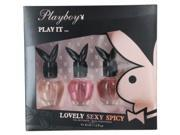 Playboy Variety By Playboy Set-Coffret-3 Piece Set Spicy & Sexy & Lovely And All Are Edt Spray 1 Oz