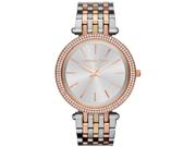 Michael Kors Silver Dial Tri-tone Stainless Steel Ladies Watch MK3203