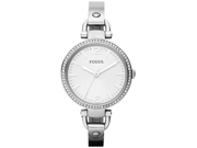 Fossil Georgia Glitz Silver Dial Stainless Steel Bangle Ladies Watch ES3225