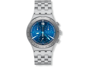 Swatch Irony Rhythmic Blue Chronograph Stainless Steel Mens Watch YCS575G