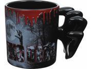 The Walking Dead Molded Zombie Hands Handle Coffee Mug 9SIA0192F44513
