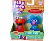 Sesame Street Play Town Learning Curve Real Wood 2pk Grover & Elmo Case Of 6