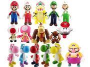 Super Mario Bros PVC Figure Collectors Asst B Set of 16 With Wario 9SIA1C10B03089