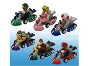Super Mario Bros Mini Kart Checkered Figure 2 Set Of 6