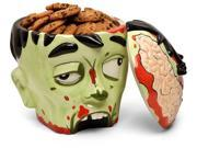 Oh boy! Zombie brains! The Zombie Head Ceramic Cookie Jar is perfect for cookies or candy