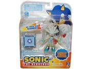 """Sonic 3"""""""" Action Figure With Accessories Set Silver & Iron Box"""" 9SIAD245E09923"""