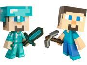 "Minecraft Steve & Diamond Steve 6"" Vinyl Figure Set Of 2"