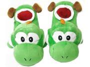 Super Mario Brothers Yoshi Green Plush Slippers
