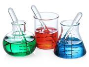 Laboratory Beaker & Flask Shot Glass Set Of 4