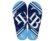 Tampa Bay Rays MLB Unisex Big Logo Flip Flops Medium (W 9-10/M 7-8) 9SIA01939A0231