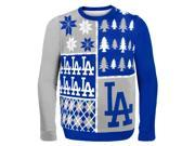 Los Angeles Dodgers Busy Block MLB Ugly Sweater X-Large