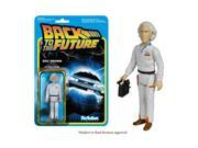 """Reaction Back To The Future Doc Brown 3.75"""" Action Figure"""