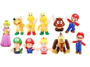 Super Mario Bros Pvc Figure Collectors Set Of 11