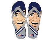New England Patriots NFL 8-16 Youth Mascot Flip Flops Small (11-12)