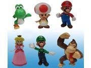 Super Mario Bros Mini Figures Wave 2 Set Of 6