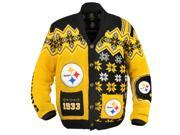 Pittsburgh Steelers NFL Adult Ugly Cardigan Sweater Large