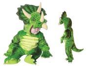 Green Triceratops Plush Baby Costume 18-24 Months