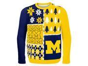 Michigan Busy Block NCAA Ugly Sweater X-Large