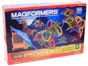 Magformers 63104 Dinosaur, 55 Piece Set, Ages 3 And Up 9SIV06W6B68721