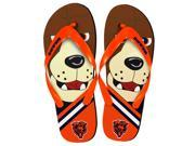 Chicago Bears NFL 8-16 Youth Mascot Flip Flops Large (3-4)