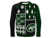 New York Jets Busy Block NFL Ugly Sweater Medium