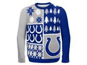 Indianapolis Colts Busy Block NFL Ugly Sweater Large