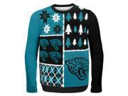 Jacksonville Jaguars Busy Block NFL Ugly Sweater X-Large