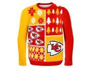 Kansas City Chiefs Busy Block NFL Ugly Sweater X-Large