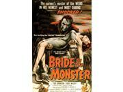 "Spooky Scenes Movie Poster Wall Sticker Bride Of The Monster 11"" X 17"""