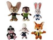 Zootopia Small Plush Set Of 6 9SIA0193XT7838