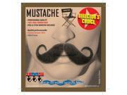 Circus Handlebar Black Real Human Hair Adult Costume Moustache