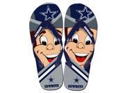 Dallas Cowboys NFL 8 16 Youth Mascot Flip Flops Small 11 12